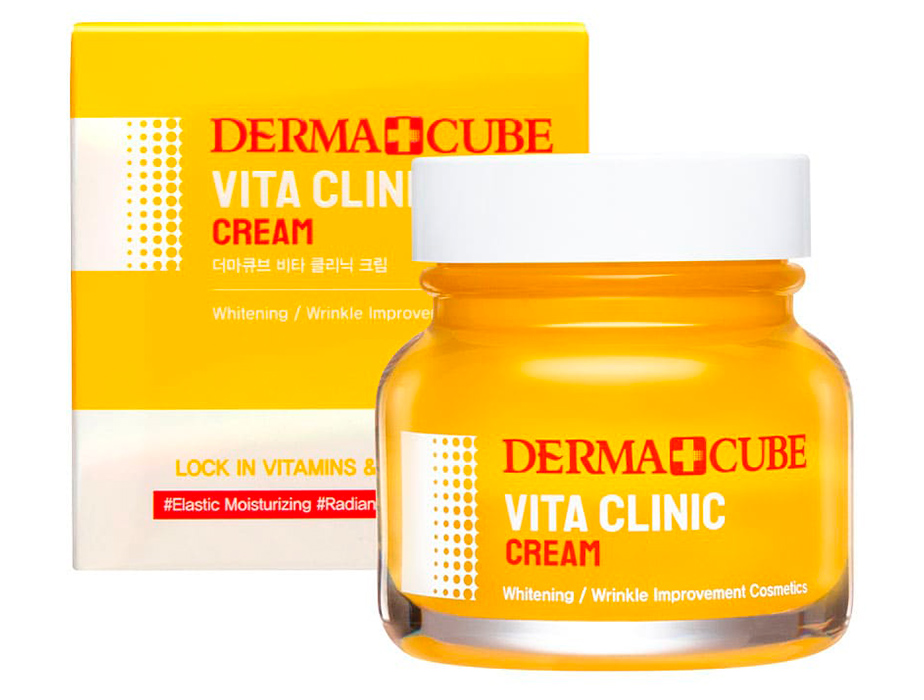 Осветляющий крем для лица FarmStay Derma Cube Vita Clinic Cream, 60мл - Фото №2