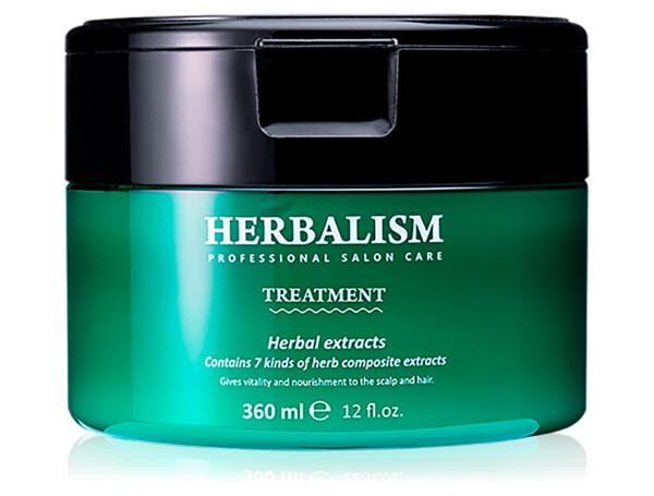 Травяная маска для волос с аминокислотами Lador Herbalism Treatment, 360мл - Фото №1