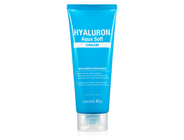Гиалуроновый крем для лица Secret Key Hyaluron Aqua Soft Cream, 150г - Фото №1