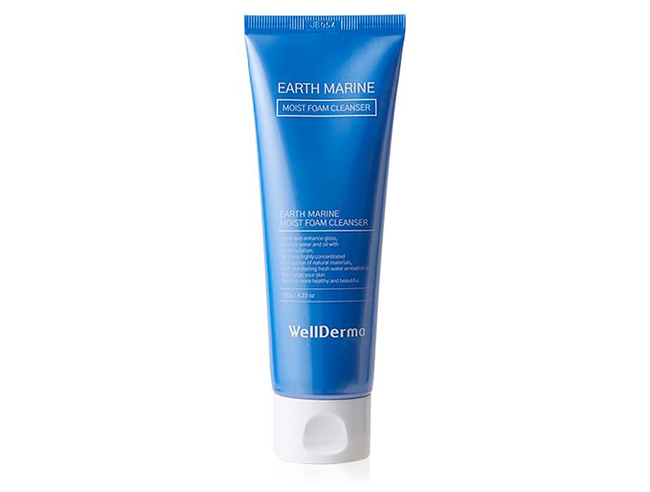 Пенка для умывания лица с морскими минералами WellDerma Earth Marine Moist Foam Cleanser, 120мл