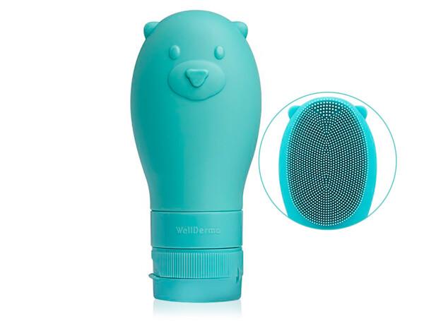 Освежающая пенка для очищения лица с силиконовой щеткой WellDerma Gomdochi Foam Cleanser Cooling, 60мл - Фото №1
