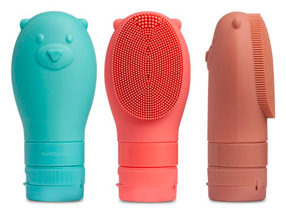 Освежающая пенка для очищения лица с силиконовой щеткой WellDerma Gomdochi Foam Cleanser Cooling, 60мл - Фото №3