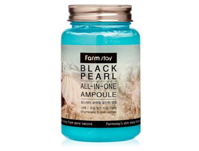 Ампульная сыворотка для лица с экстрактом черного жемчуга FarmStay Black Pearl All-In-One Ampoule, 250мл - Фото №1