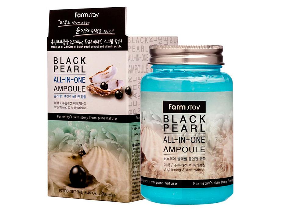 Ампульная сыворотка для лица с экстрактом черного жемчуга FarmStay Black Pearl All-In-One Ampoule, 250мл - Фото №2