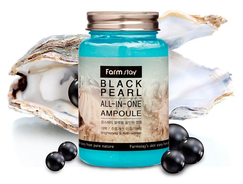 Ампульная сыворотка для лица с экстрактом черного жемчуга FarmStay Black Pearl All-In-One Ampoule, 250мл - Фото №3
