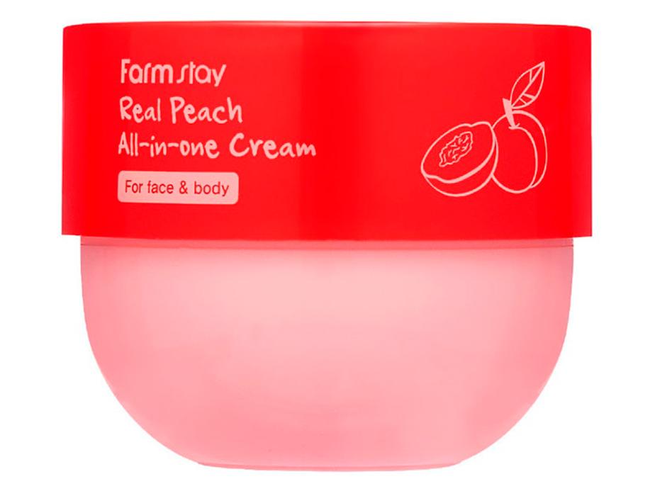 Крем для лица и тела с экстрактом персика FarmStay Real Peach All-In-One Cream, 300мл - Фото №2