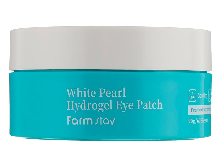 Гидрогелевые патчи под глаза с  белым жемчугом FarmStay White Pearl Hydrogel Eye Patch, 60шт - Фото №4