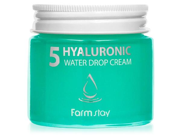 Увлажняющий крем для лица с гиалуроновой кислотой FarmStay Hyaluronic 5 Water Drop Cream, 80мл - Фото №1
