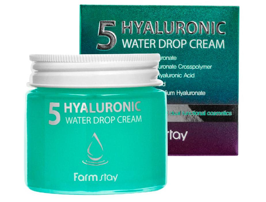 Увлажняющий крем для лица с гиалуроновой кислотой FarmStay Hyaluronic 5 Water Drop Cream, 80мл - Фото №2