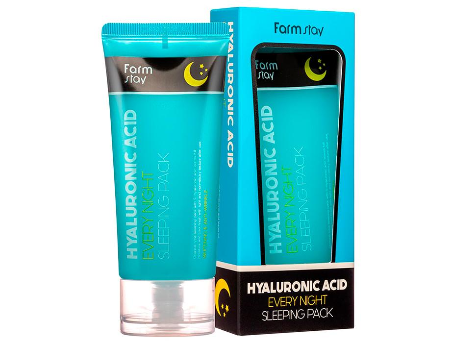 Увлажняющая ночная маска для лица с гиалуроновой кислотой FarmStay Hyaluronic Acid Every Night Sleeping Pack, 120мл - Фото №2