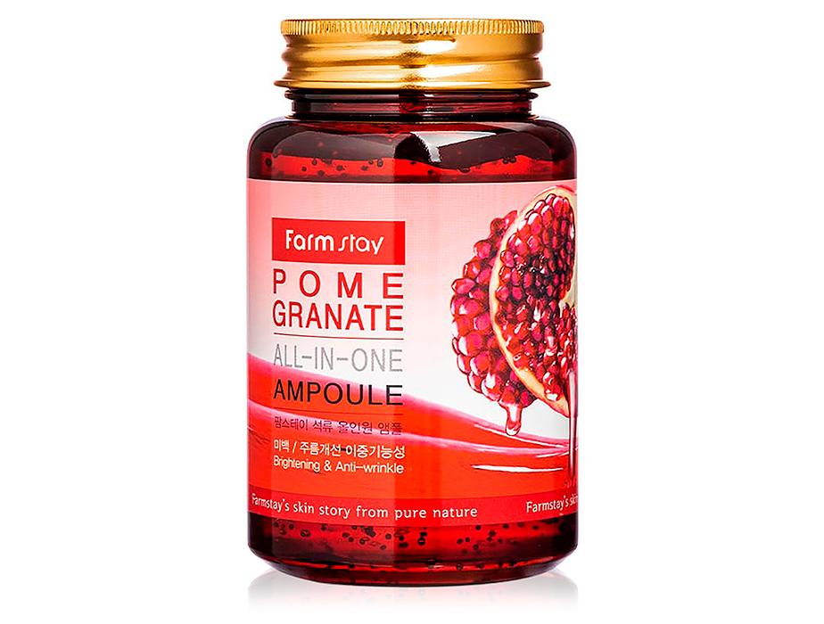 Ампульная сыворотка для лица с экстрактом граната FarmStay Pomegranate All-In-One Ampoule, 250мл - Фото №1