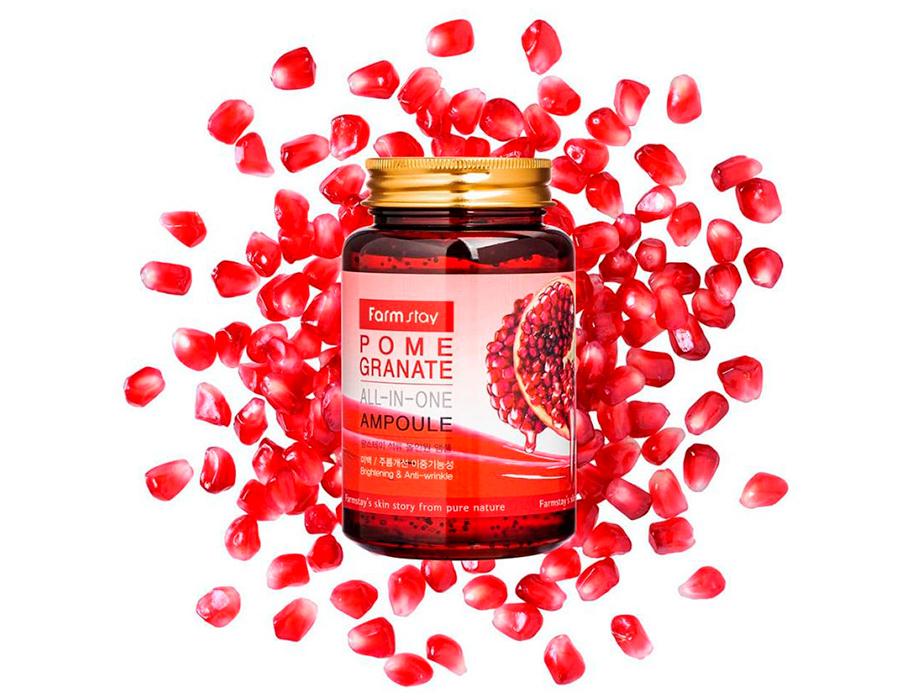Ампульная сыворотка для лица с экстрактом граната FarmStay Pomegranate All-In-One Ampoule, 250мл - Фото №4