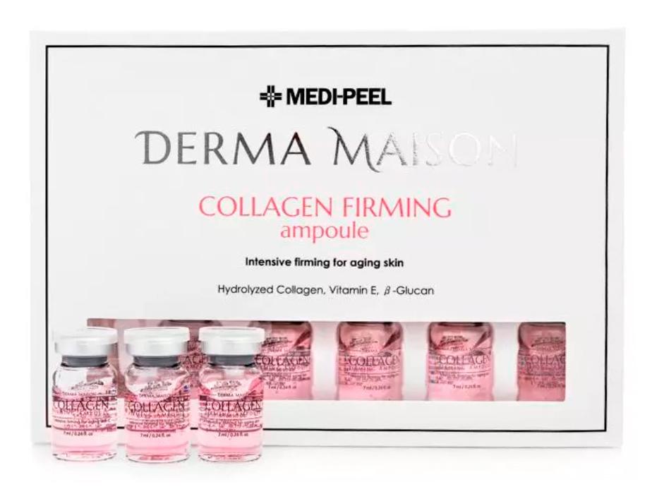 Концентрированные ампулы с коллагеном Medi-Peel Derma Maison Collagen Firming Ampoule, 10шт по 5мл - Фото №3