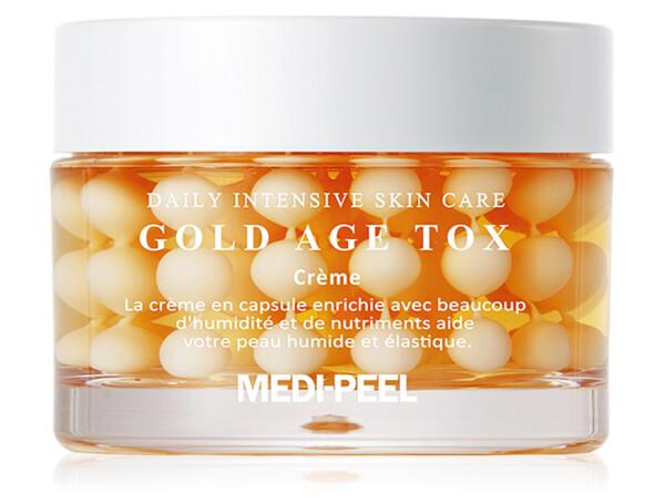 Антивозрастной капсульный крем для лица с экстрактом золотого шелкопряда Medi-Peel Gold Age Tox Cream, 50мл - Фото №1
