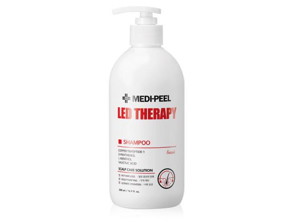 Укрепляющий шампунь с пептидами Medi-Peel Led Therapy Shampoo, 500мл - Фото №1
