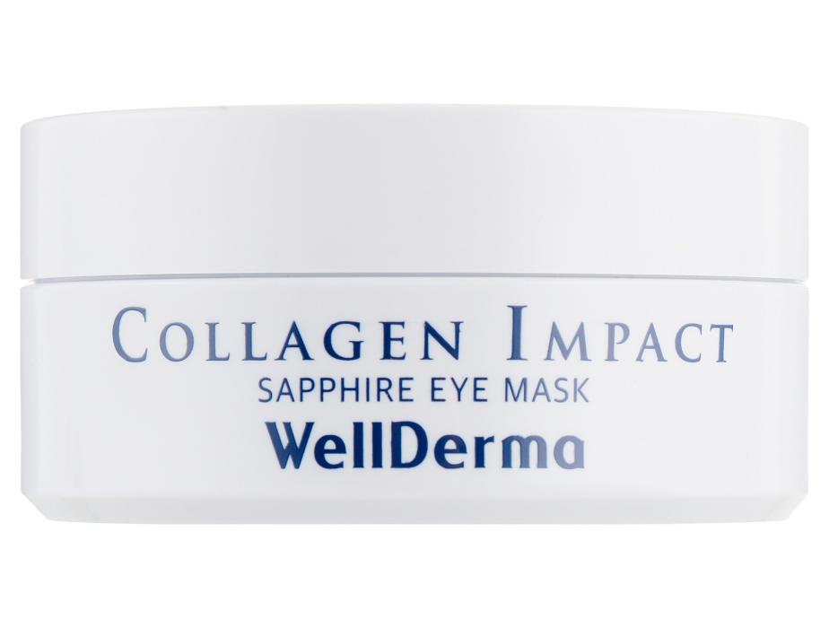 Увлажняющие патчи под глаза с морским коллагеном WellDerma Collagen Impact Sapphire Eye Mask, 60шт - Фото №2