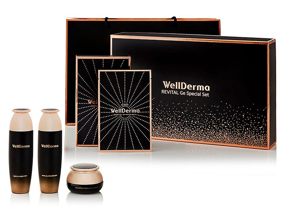 Премиум набор восстанавливающих средств для лица с германием WellDerma Revital Ge Special Set - Фото №1