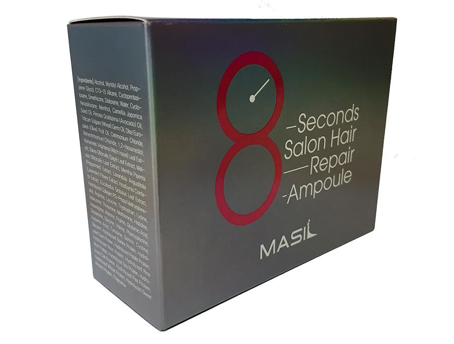 Высококонцентрированная восстанавливающая маска-филлер для волос Masil 8 Seconds Salon Hair Repair Ampoule, 10шт по 15мл - Фото №2