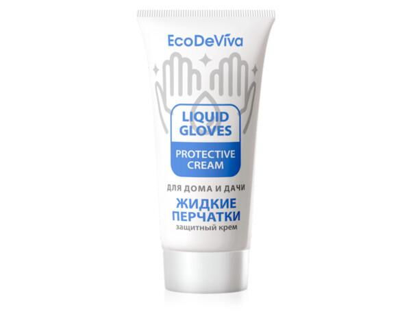 Защитный крем для рук «Жидкие перчатки» EcoDeViva by TianDe Liquid Gloves Protective Cream, 50г - Фото №1