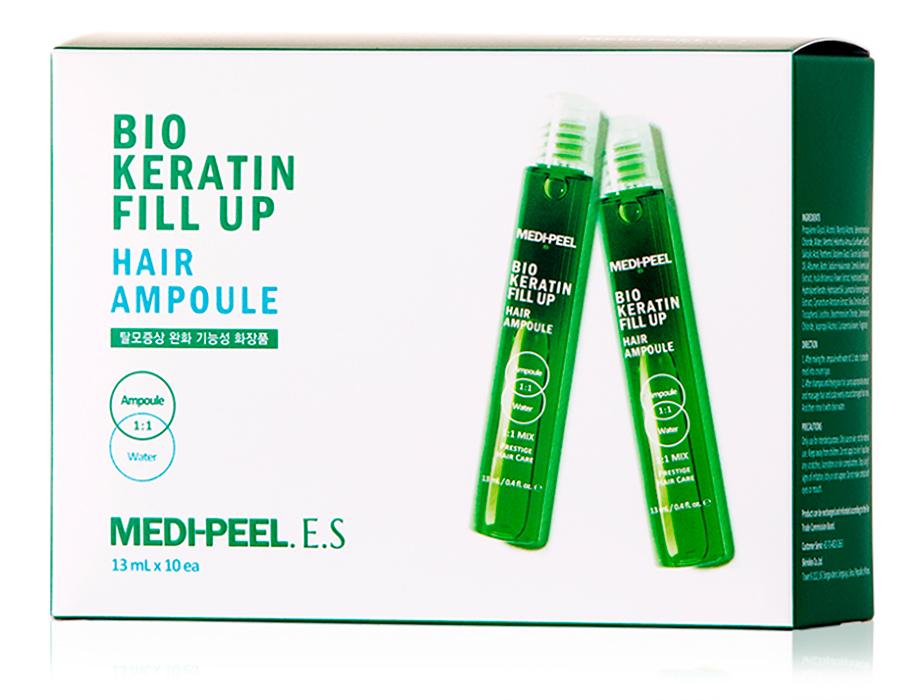 Укрепляющие филлеры для волос Medi-Peel Bio Keratin Fill Up Hair Ampoule, 10шт по 13мл - Фото №1