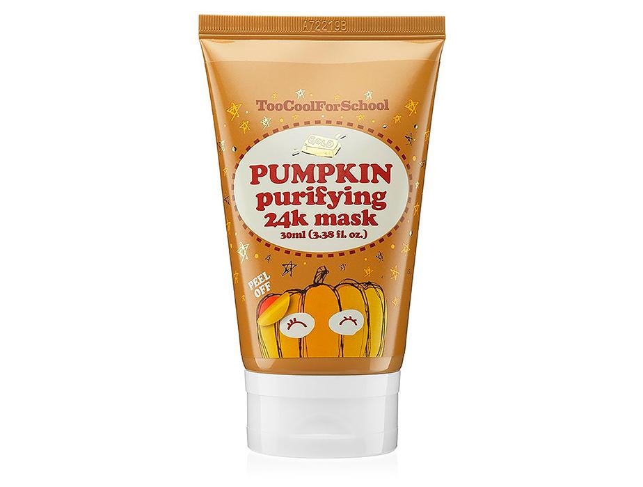 Тыквенная маска-пленка для лица с золотом Too Cool For School Pumpkin Purifying 24K Mask, 30мл