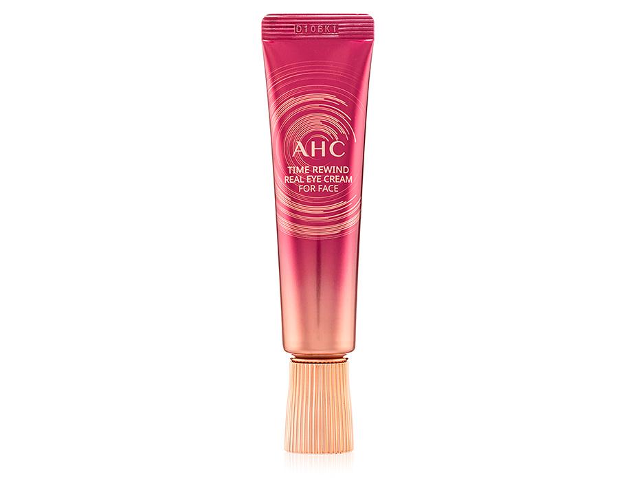 Антивозрастной крем для кожи вокруг глаз и лица с пептидами AHC Time Rewind Real Eye Cream For Face, 30мл - Фото №1