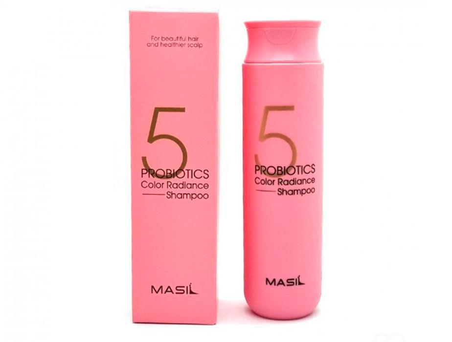 Шампунь для волос с пробиотиками для защиты цвета Masil 5 Probiotics Color Radiance Shampoo, 300мл - Фото №2