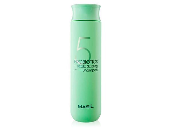 Глубокоочищающий шампунь для волос с пробиотиками Masil 5 Probiotics Scalp Scaling Shampoo, 300мл - Фото №1