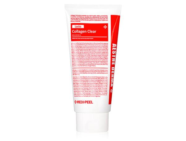 Очищающая пенка для умывания с коллагеном Medi-Peel Red Lacto Collagen Aesthe Derma Clear, 300мл - Фото №1