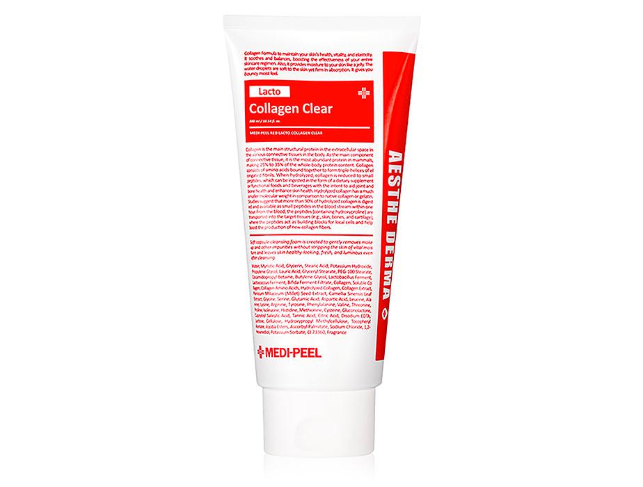 Очищающая пенка для умывания с коллагеном Medi-Peel Red Lacto Collagen Aesthe Derma Clear, 300мл