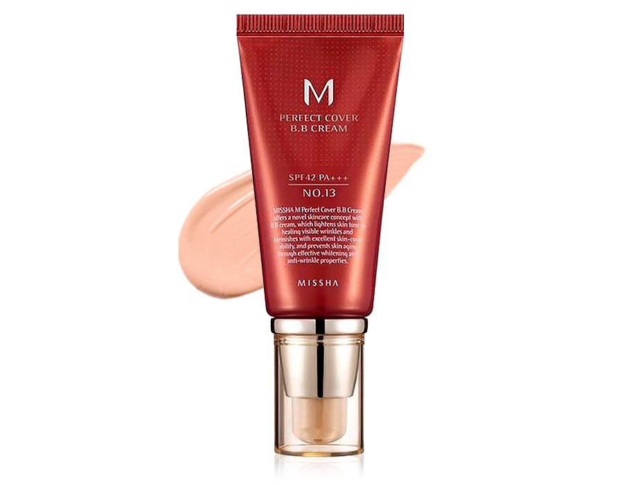 Увлажняющий и матирующий BB крем для лица Missha Perfect Cover BB Cream SPF 42 №13, 50мл