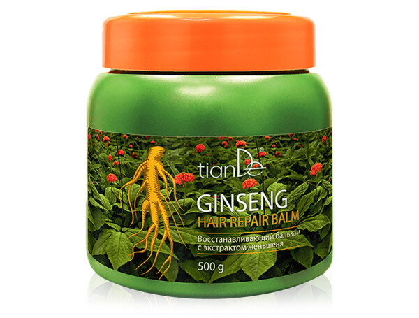 Восстанавливающий бальзам для волос с экстрактом женьшеня TianDe Ginseng Hair Repair Balm, 500г - Фото №1