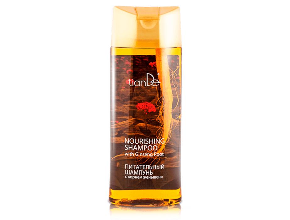 Питательный шампунь с корнем женьшеня TianDe Nourishing Shampoo With Ginseng Root, 450мл