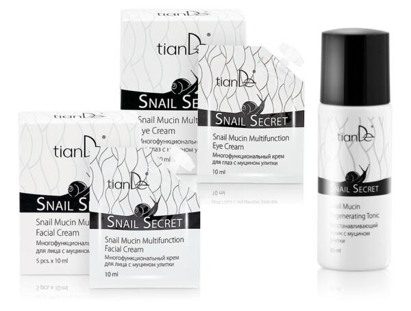 Крем для лица + крем для глаз с муцином улитки TianDe Snail Secret - в Подарок тоник c муцином улитки TianDe Snail Secret - Фото №1