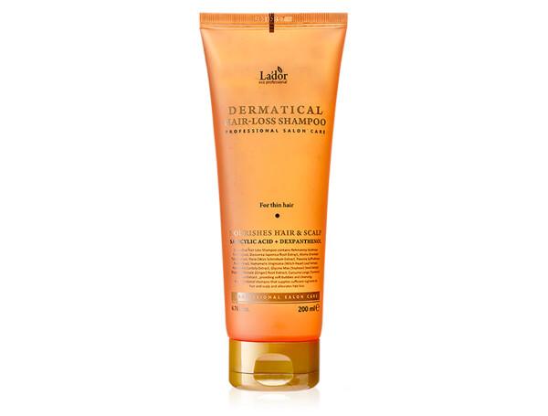 Укрепляющий шампунь от выпадения для тонких волос Lador Dermatical Hair-Loss Shampoo For Thin Hair, 200мл - Фото №1