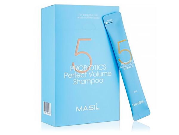 Шампунь для объема волос с пробиотиками Masil 5 Probiotics Perfect Volume Shampoo, 20шт по 8мл - Фото №1