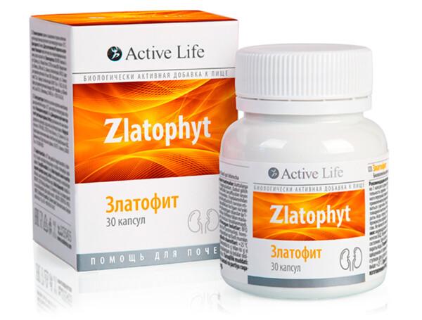 Биологически активная добавка к пище Златофит помощь для почек TianDe Active Life Zlatophyt, 30шт - Фото №1