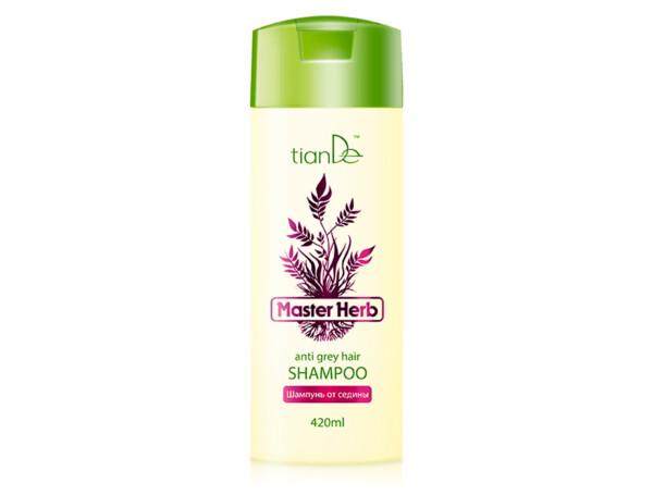 Шампунь от седины TianDe Master Herb Anti Grey Hair Shampoo, 420мл - Фото №1
